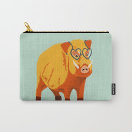 Benevolent Funny Boar Pig Carry-All Pouch