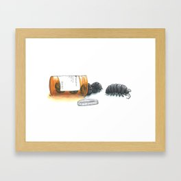 Pill bugs Framed Art Print