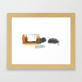Pill bugs Framed Art Print