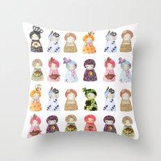 PaperDolls Throw Pillow
