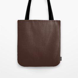 Solid dark brown Tote Bag