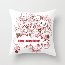 merry everything Throw Pillow