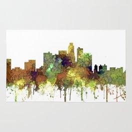 Los Angeles Skyline - Safari Buff Rug