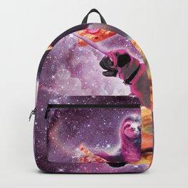 Space Pizza Sloth On Pug Unicorn On Waffles Backpack
