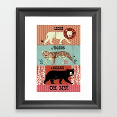Lions and Tigers and Bears!  Framed Art Print