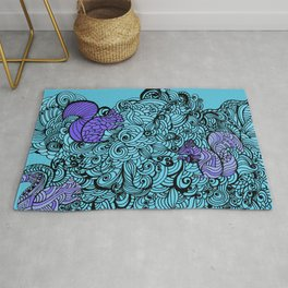Squirrels Zentangle Drawing Rug