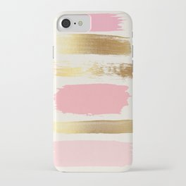 Brush Strokes (Rose/Gold) iPhone Case