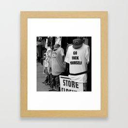 Go Fuck Yourself Framed Art Print