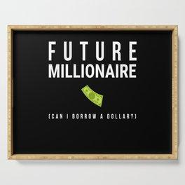 Future Millionaire Money Serving Tray