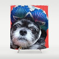 coco Shower Curtains featuring Coco by MyFavoriteCouture.com