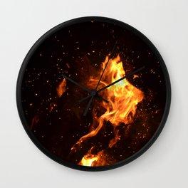 Bonfire warming up Wall Clock