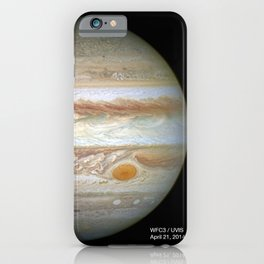 Hubble Space Telescope - Jupiter with comparison images of the Great Red Spot 1995 - 2014 iPhone Case