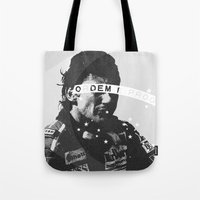 senna Tote Bags featuring Senna 1 by Ricca Design Co.