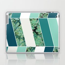 Teal Herringbone #society6 #teal #succulent Laptop & iPad Skin