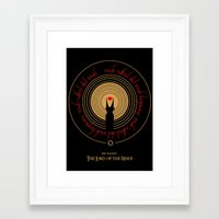 lord of the rings Framed Art Prints featuring Lord Of The Rings by outofreception