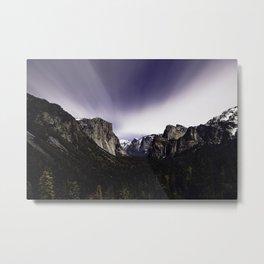 Yosemite Tunnel View at Night Metal Print