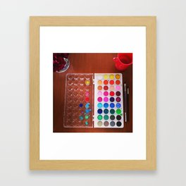 let's make art Framed Art Print