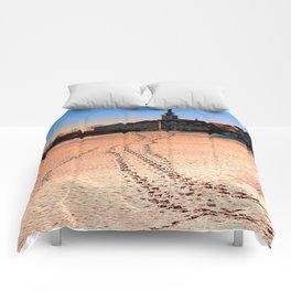 Beautiful village in winter wonderland | landscape photography Comforters