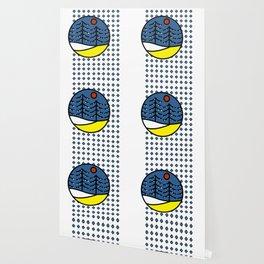Diamond Pattern Outdoor Scene Wallpaper
