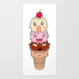 Screaming Ice Cream  Art Print