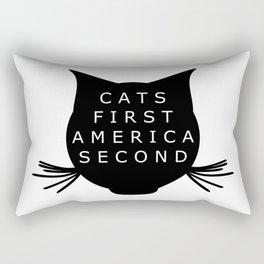 Cats First America Second Rectangular Pillow