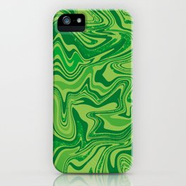 Green Agate Liquid Marble iPhone Case