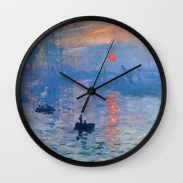 CLAUDE MONET, Impression, Sunrise. Wall Clock
