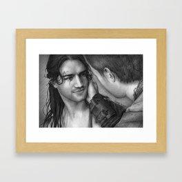 Nagron First Kiss (Nasir, Spartacus) Framed Art Print