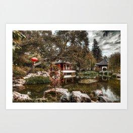 Chinese Lake Art Print