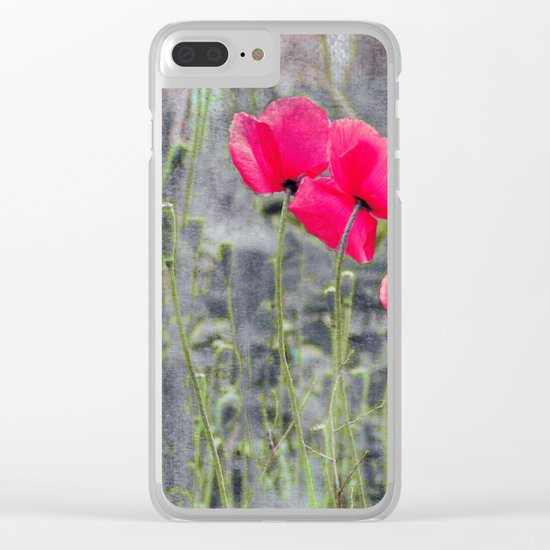 Poppies(mist)2. Clear iPhone Case