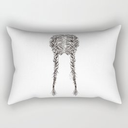 Parted French Braids Rectangular Pillow