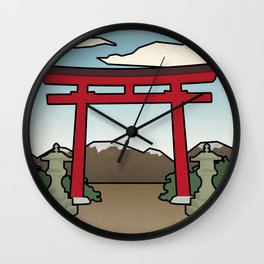 Red Gate Wall Clock