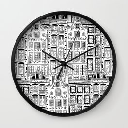 Amsterdam Houses Wall Clock