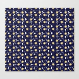 Greek Inspired Suns and Moons with Stars Canvas Print