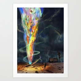H.P. Lovecraft The Colour Out of Space Art Print