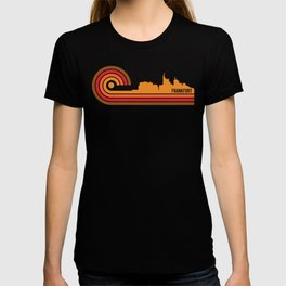 Retro Style Frankfort Kentucky Skyline T-shirt