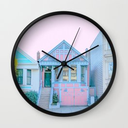 San Francisco Painted Lady Victorian House Wall Clock