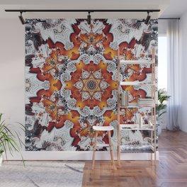 Incandescent Snowflake Wall Mural