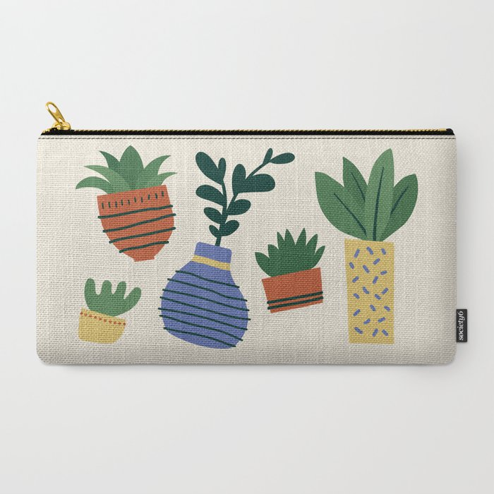 Happy Plants Carry-All Pouch