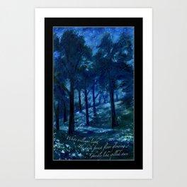 White Trilliums Light Art Print
