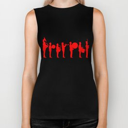 Marching band red Biker Tank
