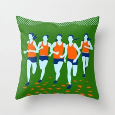 Stars of Track and Field are Beautiful People Throw Pillow