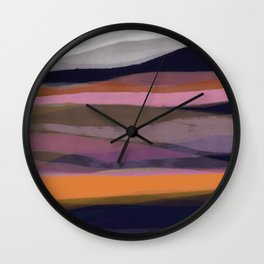 Layered landscape warm Wall Clock