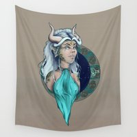 capricorn Wall Tapestries featuring Capricorn by Symbiosis