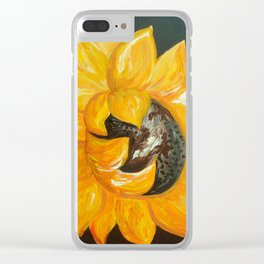 Sunflower Solo Clear iPhone Case