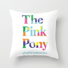 The Pink Pony Throw Pillow