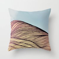 dune Throw Pillows featuring Sand Dune by Brontosaurus