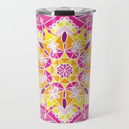 Mosaic Sunset Mandala Travel Mug