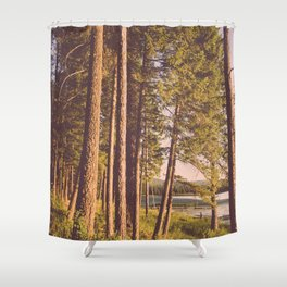Retro Forest Shower Curtain