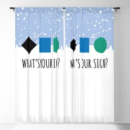 What's Your Sign? for Ski and Snowboard Lovers Blackout Curtain